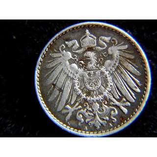 1918年德意志帝國皇家大鷹國徽5分寧鐵幣(德皇威廉二世末年, 戰敗之年)