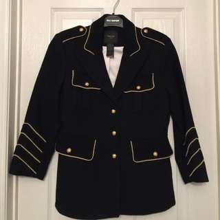 Smythe Military Blazer with Gold Piping & Buttons (Size 6)