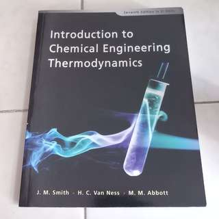 Introduction to Chemical Engineering Thermodynamics, Seventh Edition