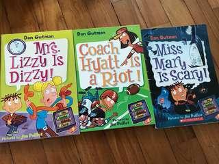 Set of 3 Dan Gutman's My Weird School Daze bookd