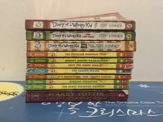 Geronimo Stilton, Diary of Wimpy Kids, Harry Potter and the chamber of secrets