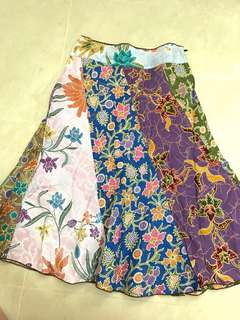 Mixed batik Multi coloured A line Skirt- kids size