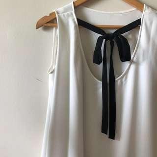 White Ribbon Top from Shopatvelvet