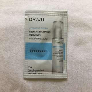 <全新>dr.wu 玻尿酸保濕精華液試用包2ml