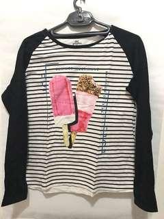 Ice cream stripe t shirt