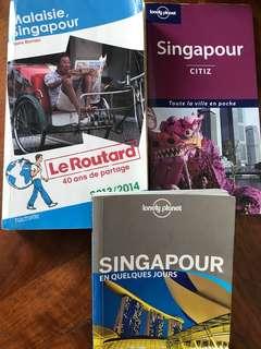 Set of 3 travel books Singapore