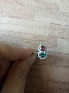 🚚 天然葫蘆造型碧璽戒指
