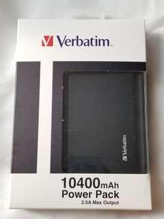 [全新] Verbatim 外置電 10400mAh 充電器 charger