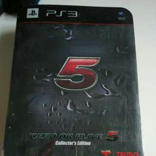 Ps3 Playstation Dead Or Alive 5 Collector Edition