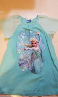 Clearance -$7 Frozen Bossini Girl's Top (130 size). Good for 9 years and above. Almost new!