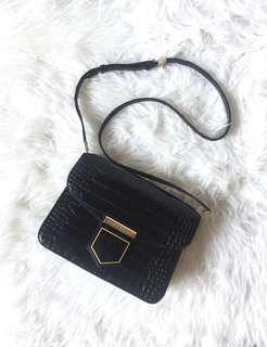 Givenchy Small Nobile Black Croco Sling 2016