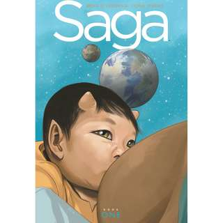 Saga Book One by Brian K Vaughan, Fiona Staples