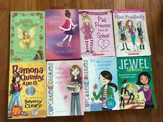 Set of 8 books perfect for girls ages 7-10