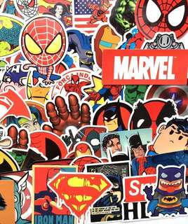 Marvel & DC Decal