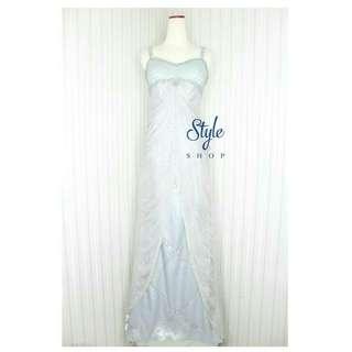 Long dress /gaun pesta silver