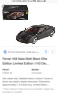 1/18 Ferrari 458 Italia limited edition miniature model