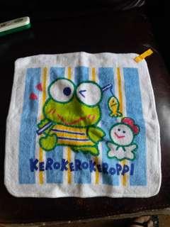 青蛙keroppi日本絕版毛巾仔
