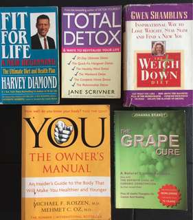 Best Selling HEALTH books on WEIGHT LOSS, DETOX, CANCER FREE.. with Recipes