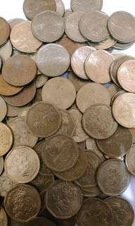 Uang Lama Logam/Uang Koin Rp 100 Tahun 1990-an Gambar Karapan Sapi