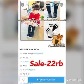 Sale-kneesocks mustache