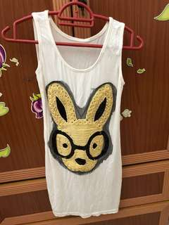 Rabbit Singlet T-shit