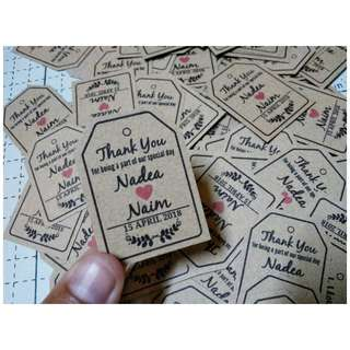 Wedding Tag mini craft paper 100pcs