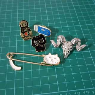 Enamel Pins Badges Brooches