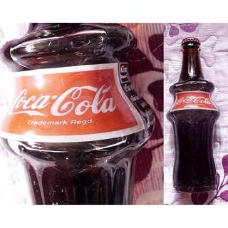可口可樂泰國98年世界杯樽蓋280毫升彎曲玻璃樽