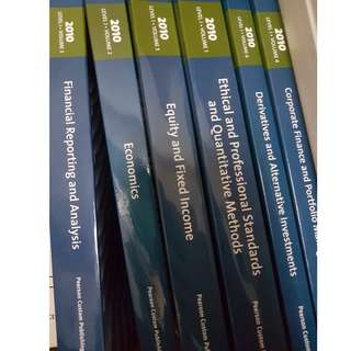 official CFA study books 2010