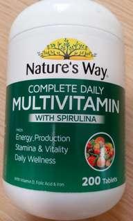 綜合維他命丸 nature's way multivitamin