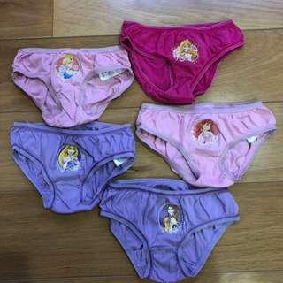 Disney panties size 1.5-2 yr old