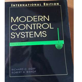 modern control systems (10th edition) by richard dorf & robert bishop book