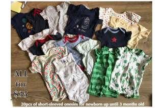 Bundle of Baby Boy's Onesies