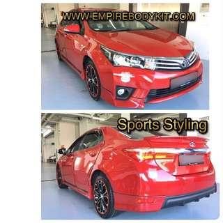 Toyota Altis 2014 - 2016 Bodykit