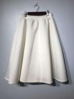 White Circle Skirt - Small