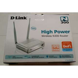 D-Link High Power Wireless N300 Router Unifi Ready L7-N-R2000