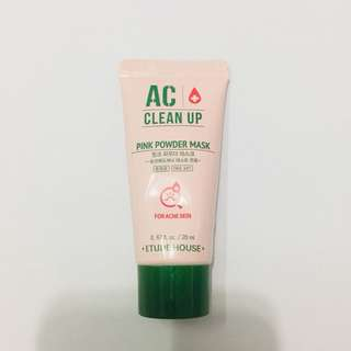 ETUDE AC CLEAN UP PINK POWDER MASK