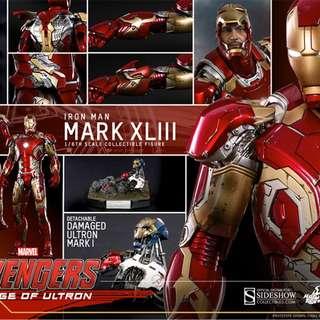 Hot Toys MMS278D09 Iron Man Mark XLIII 43 Avengers AGE of Ultron 有啡盒