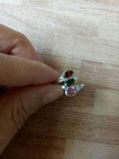 🚚 天然碧璽戒指