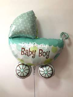 (13/1) include helium baby pram foil (full month / baby shower ) baby boy