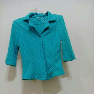 【⏰全面出清】藍綠色上衣