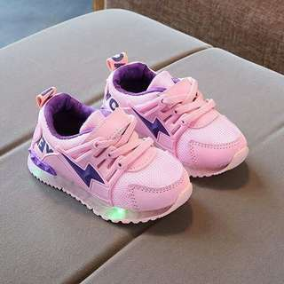 Cool Sports Sporty LED Light Velcro Shoes For Kids