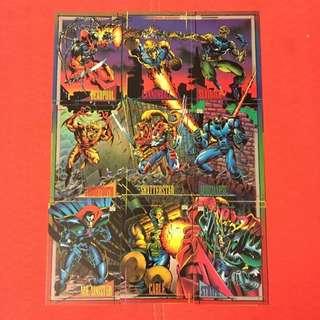 Marvel 1993 Skybox Super Heroes Card (1 Set of 9 Cards)