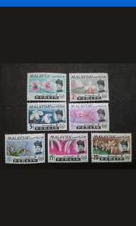 Malaysia 1965 Perlis Orchids Definitive Complete Set - 7v Used, MNH & MH Stamps