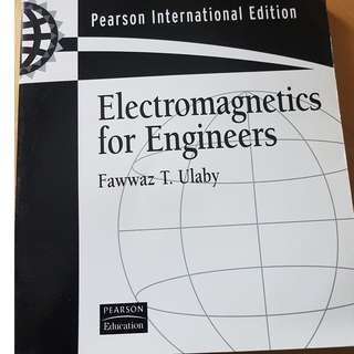 Electromagnetics for engineers by Fawwaz T. ulaby book