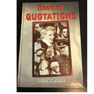 C280 BOOK - BOOK OF QUOTATIONS