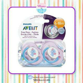 "‼️RESTOCK‼️AVENT Pacifier(6-18m)""FREE FLOW"" PURPLE ELEPHANT"