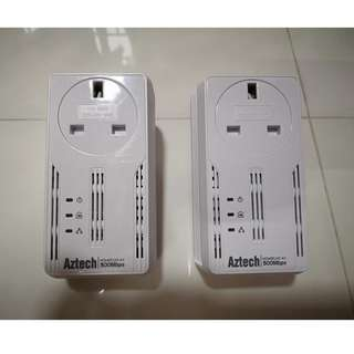Aztech HomePlug AV 500Mbps (1 Pair)