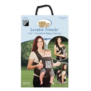 Luvable Friends Comfort 3 in 1 baby carrier