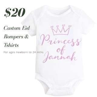 Princess baby romper onesie newborn to 24 months